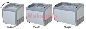 Mesin Sliding Curve Glass Freezer
